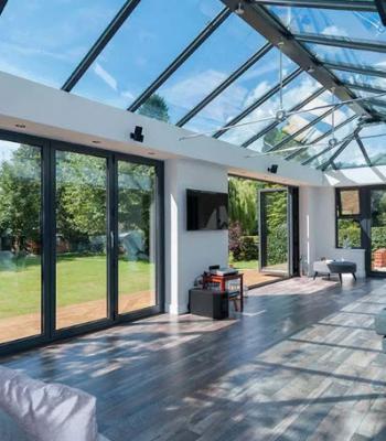 стеклянная крыша для коттеджа